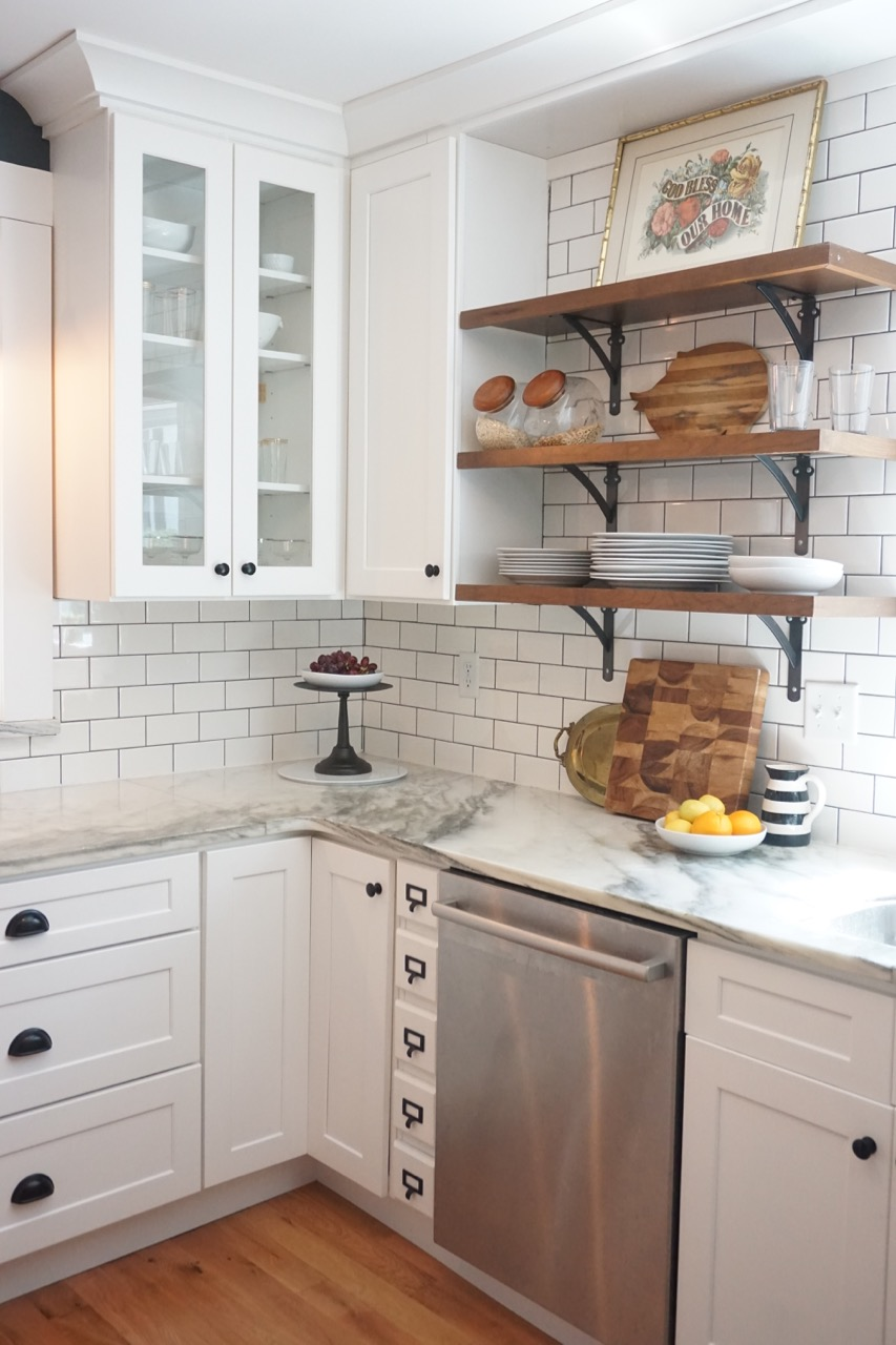 Vintage kitchen renovation affordable kitchens and baths - Kitchen design pictures white cabinets ...