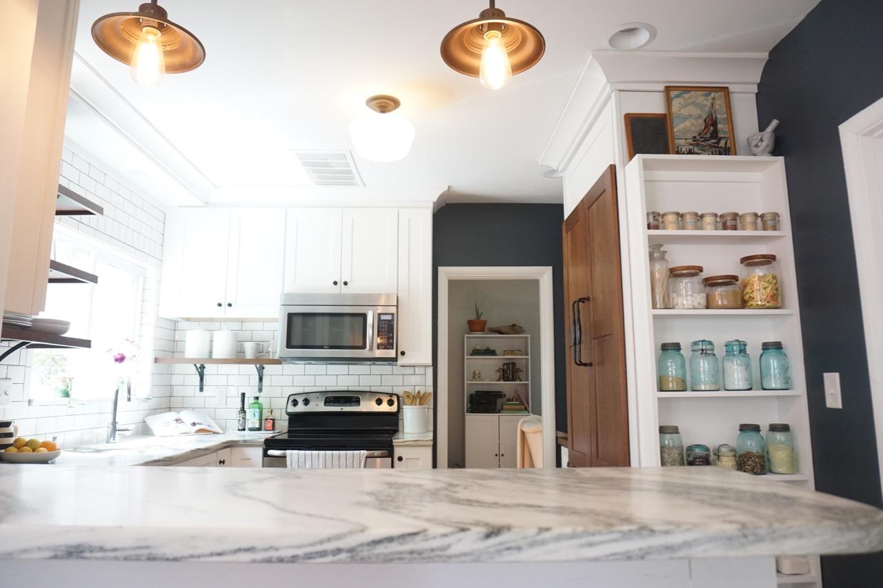 Vintage kitchen renovation affordable kitchens and baths for Affordable baths